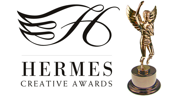 Hermes Gold award trophy