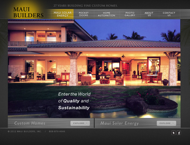 Maui builders verve marketing group for Home builder website