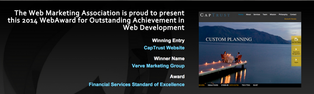 WebAward 2014 CapTrust-Verve Marketing