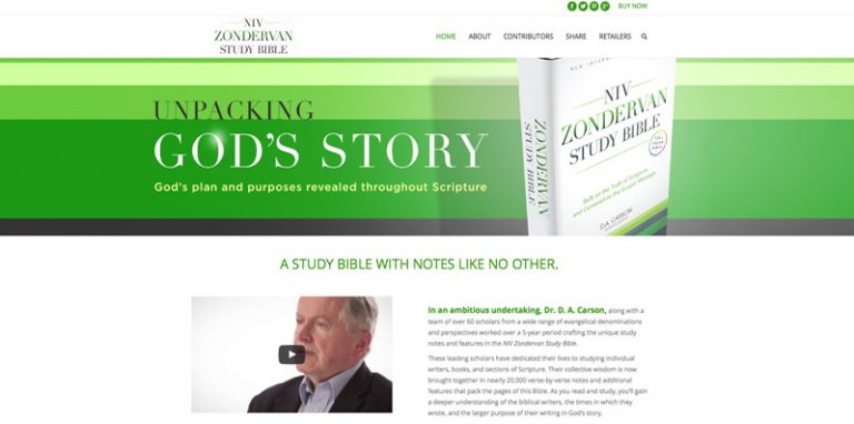 NIV Zondervan Study Bible secondary page design