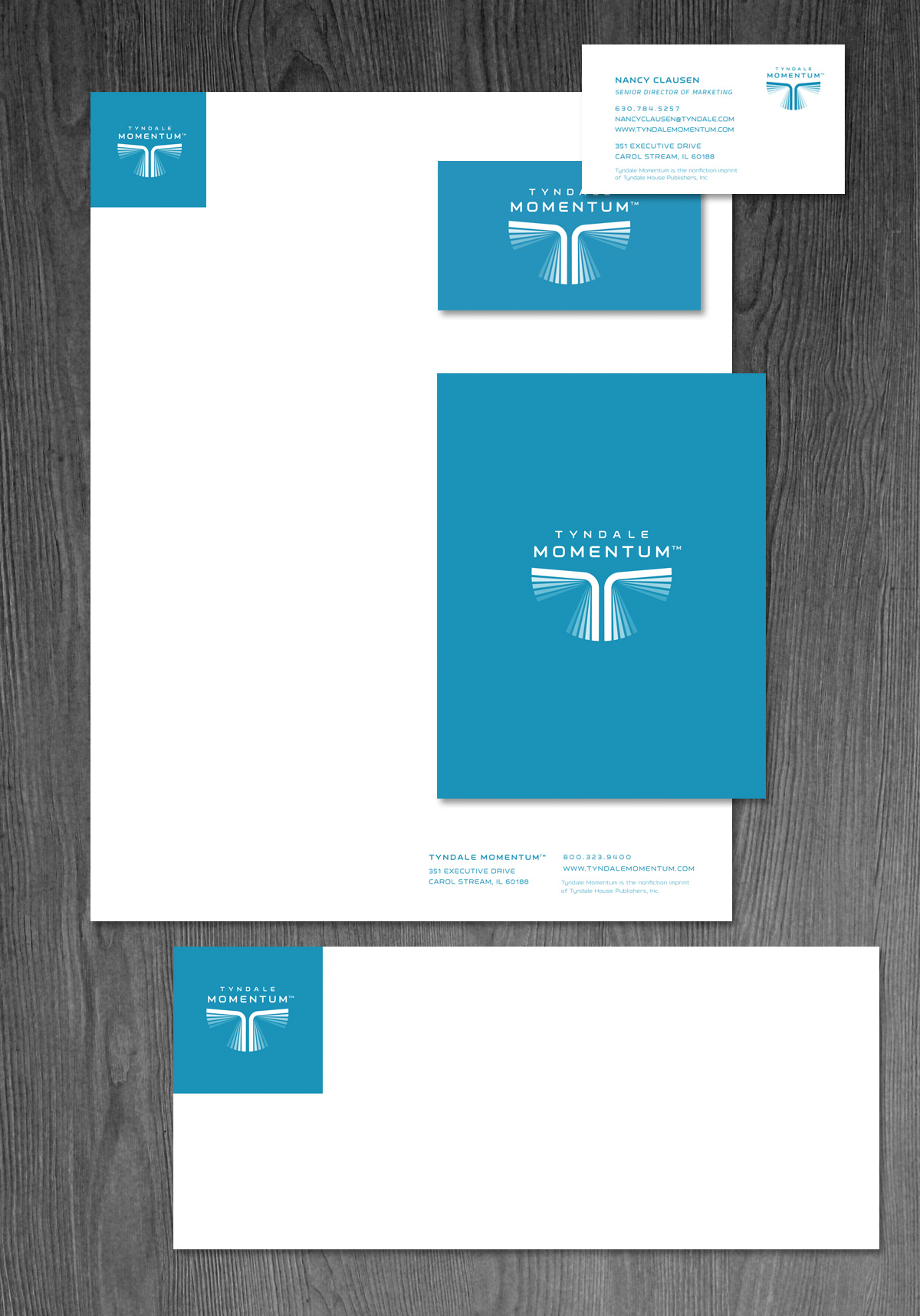 Tyndale Momentum business papers design