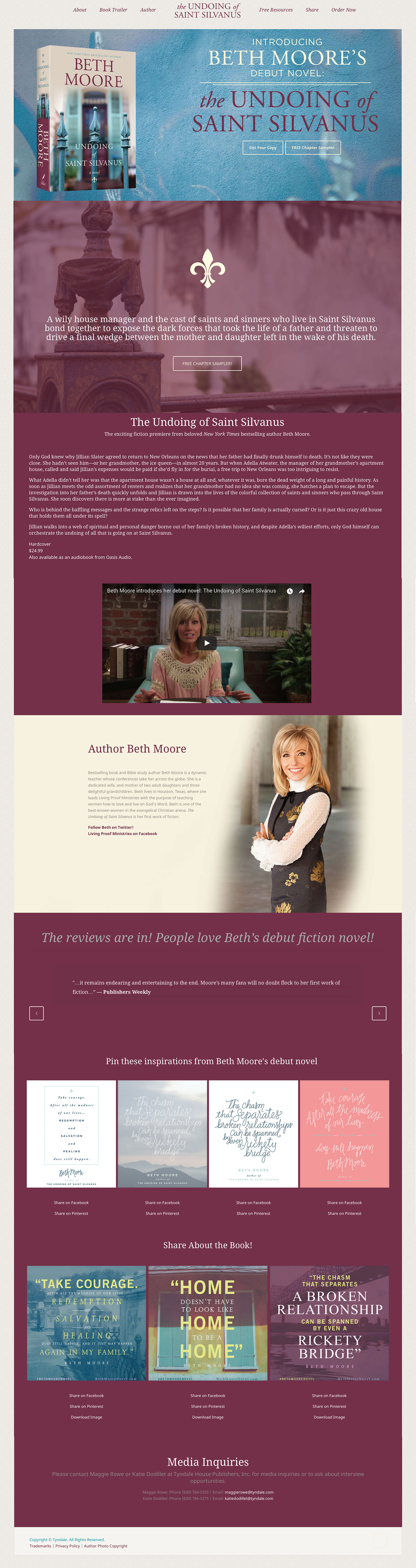 Beth Moore Book Website Design