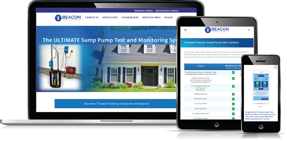 Beacon ProAct Sump Pump Monitor website