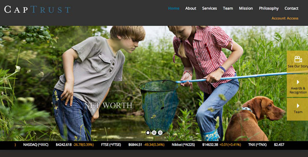 Captrust Financial Services Website design