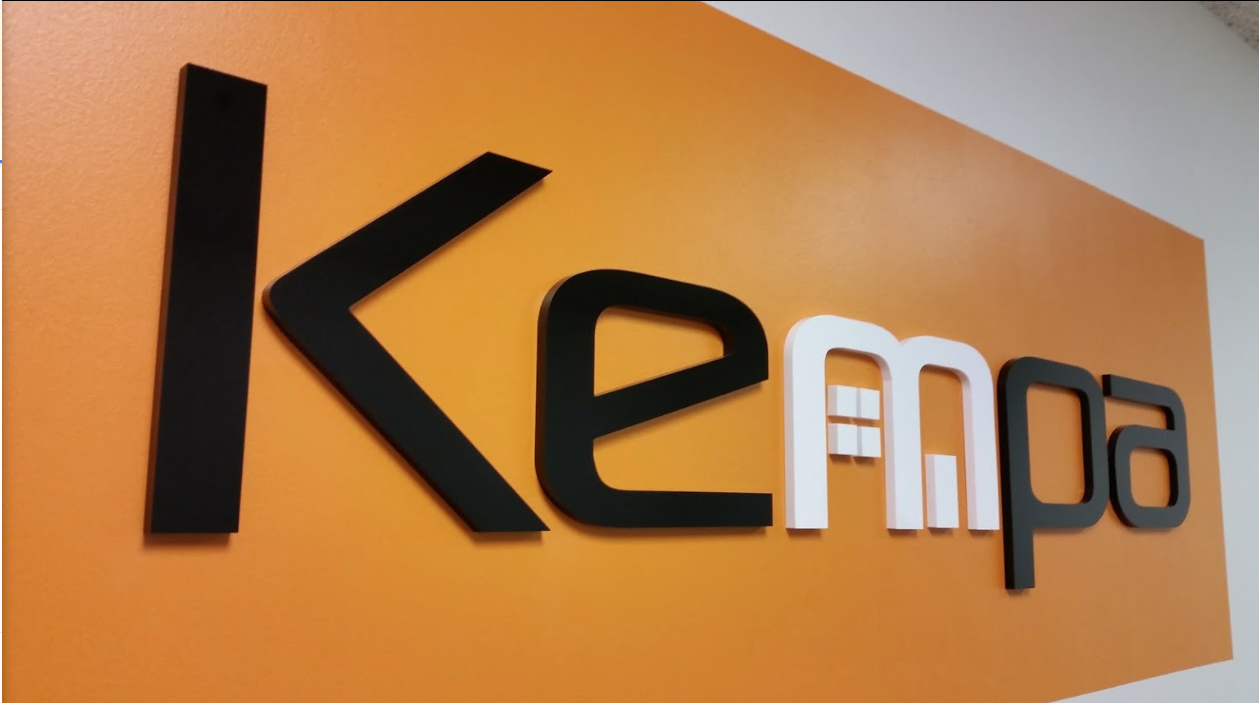 Kempa logo design - office signage