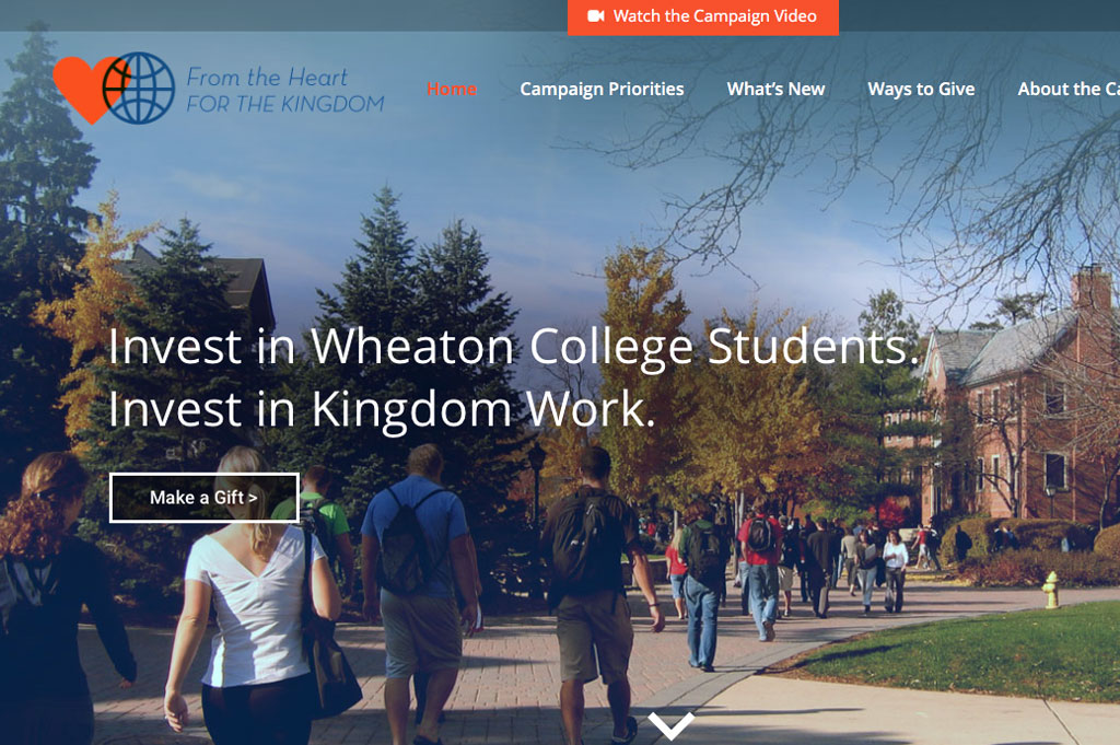 Wheaton College website design thumbnail