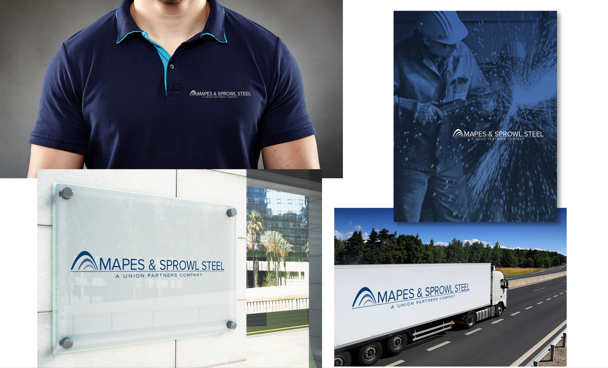 Union Partners logo design for subbrand Mapes
