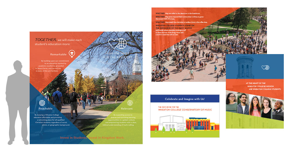 Wheaton College brochure and exhibit design