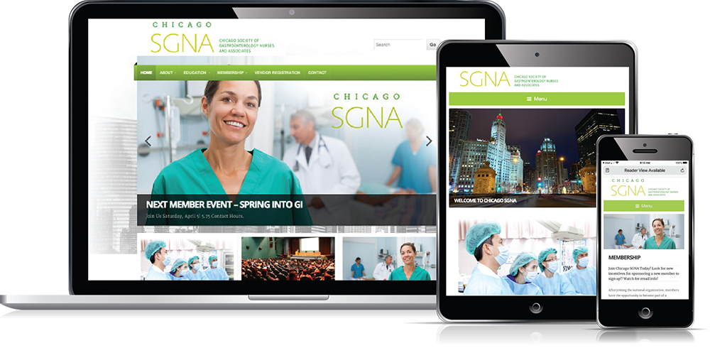 Chicago SGNA website design