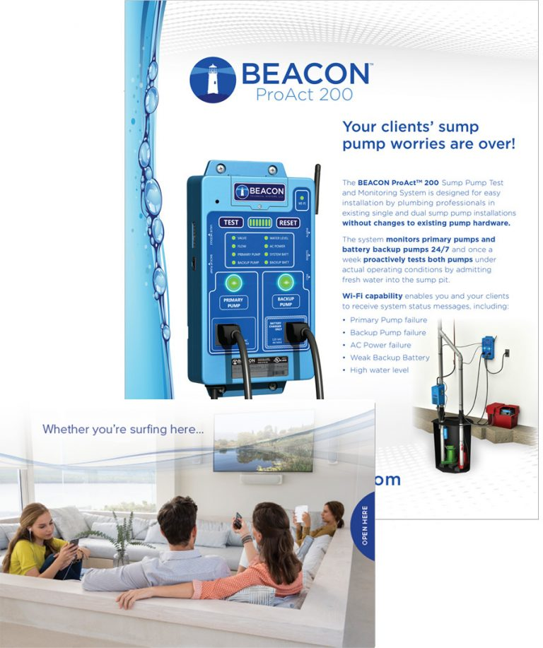 Beacon ProAct trade ad and consumer brochure